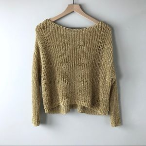 Zara oversized gold sweater women's small